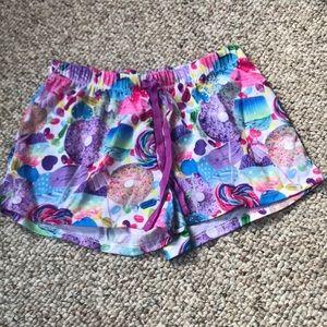 candy pattern shorts